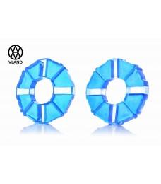 """Резинки демпферные колеса  Дельта  силикон, синие  """"VLAND"""""""
