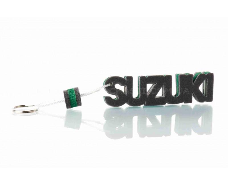 """Брелок  SUZUKI  """"SALO""""  (каучук, зеленый)"""