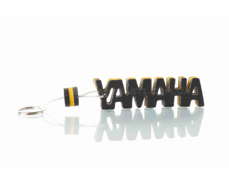 """Брелок  YAMAHA  """"SALO""""  (каучук, желтый)"""