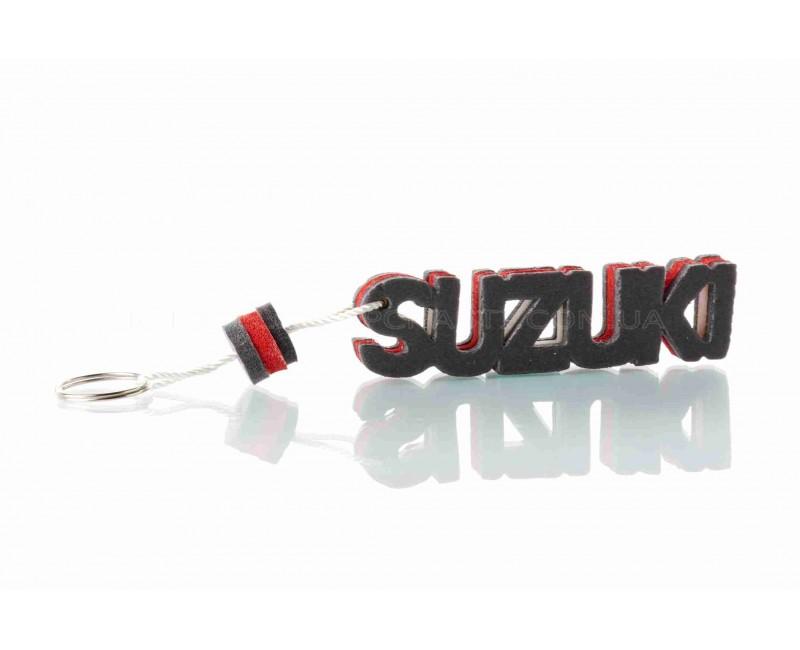"""Брелок  SUZUKI  """"SALO""""  (каучук, красный)"""