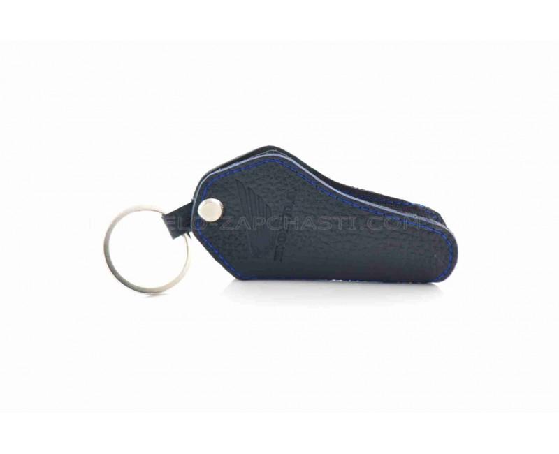 Чехол для ключей  HONDA  (кожа, синий)