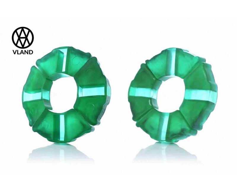 """Резинки демпферные колеса  Дельта  силикон, зеленые  """"VLAND"""""""