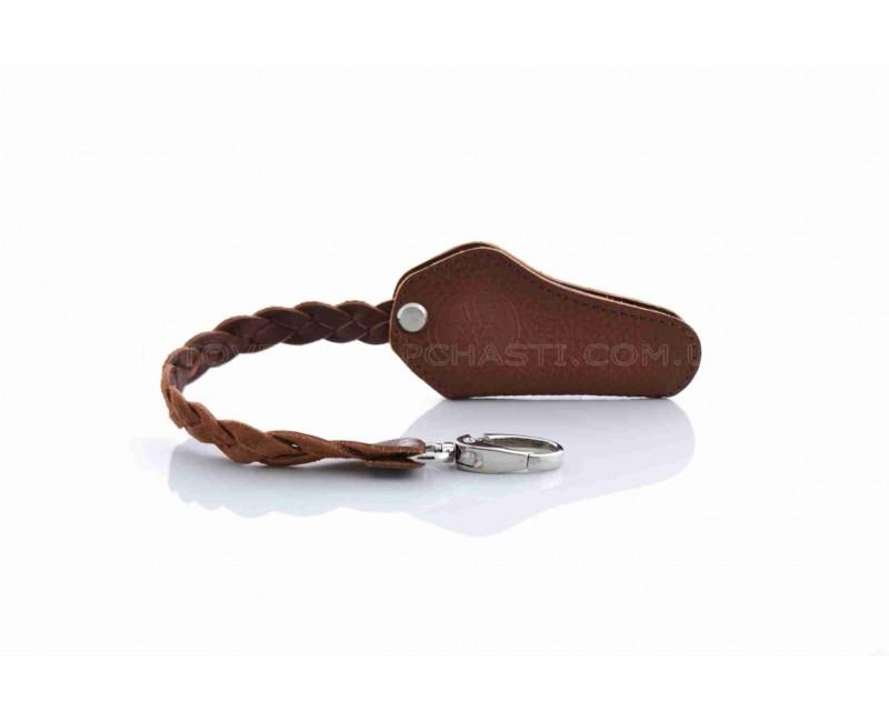 Чехол для ключей с ремешком YAMAHA (кожа, коричневый)